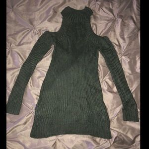 NWOT Olive Green Cold Shoulder Dress - size small